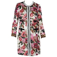Multicolor Dolce & Gabbana Floral-Printed Coat