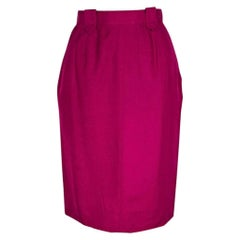 Raspberry Vintage Chanel Pencil Skirt