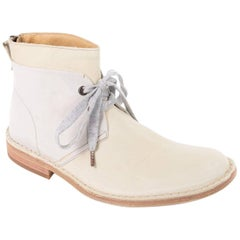 Brunello Cucinelli Women's Ivory Cream Lace Grey Ankle Boots