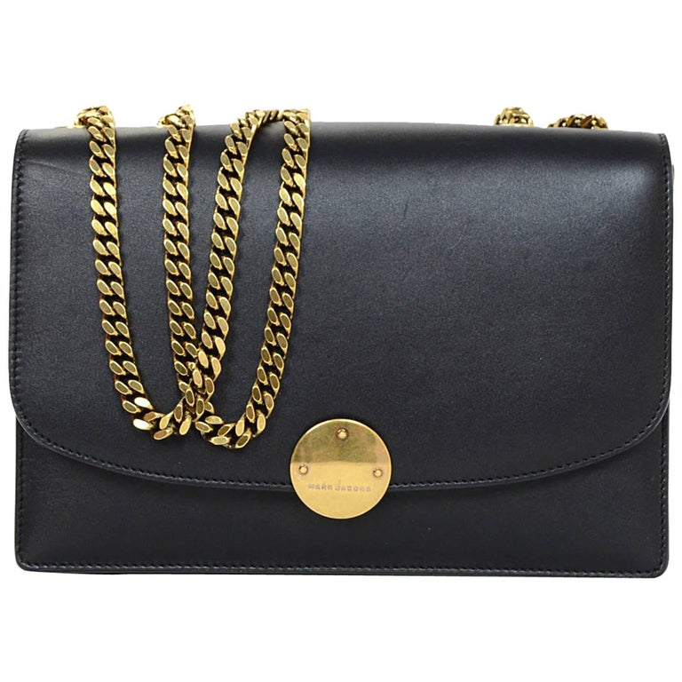 Marc Jacobs Black Leather Big Trouble Bag with Dust Bag