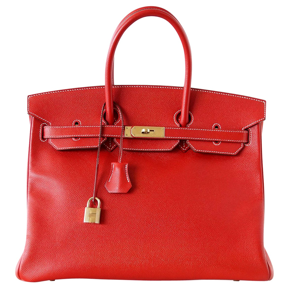 Hermes Rouge Casaque Candy Limited Edition Epsom Birkin 35 Bag