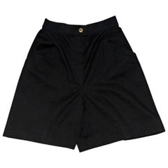 Black Vintage Chanel Cotton High-Waisted Shorts