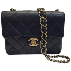 Chanel Black Leather Mini Flap Purse