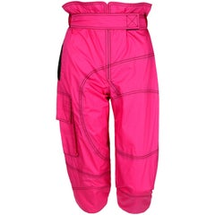 EMILIO PUCCI Bright Pink Highwaisted Windbreaker Capri Pants