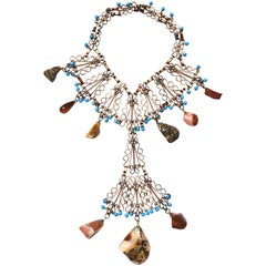 Showgirl Style Stone Necklace, 1960s