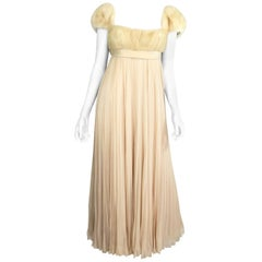 Sarmi Vintage Gown with Mink Fur Bust, 1960s