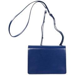 Blue Helmut Lang Leather Crossbody Bag