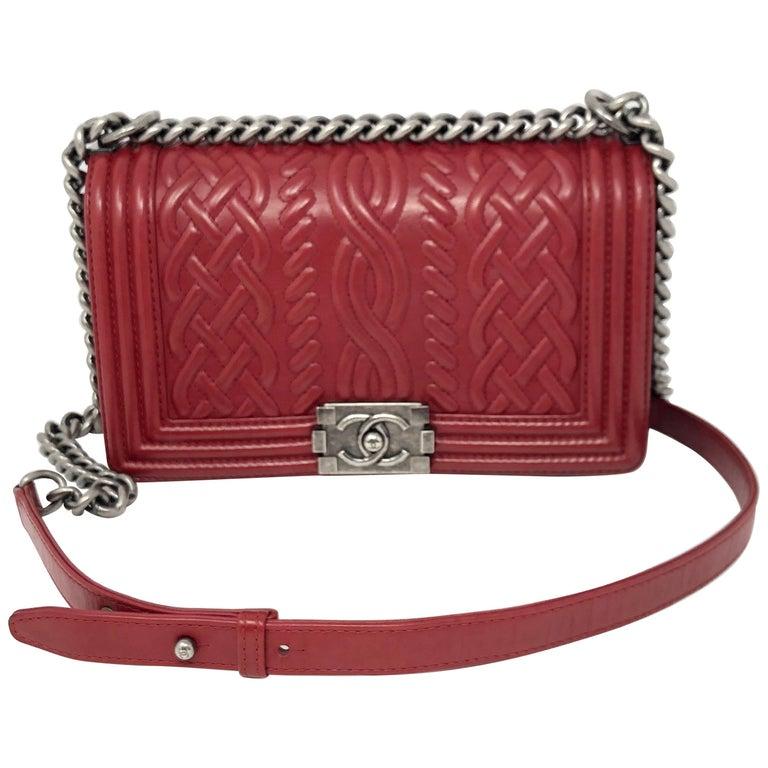 46ac46b6bb39 Limited Edition Chanel Red LeBoy Crossbody Bag at 1stdibs
