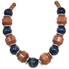 Yves Saint Vintage Laurent Wood Necklace