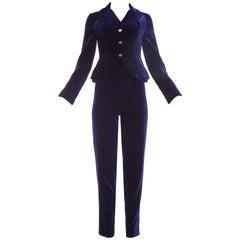 Vivienne Westwood purple velvet pant suit, A/W 1993