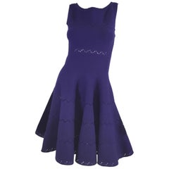 Alaia Purple Fit and Flare Dress