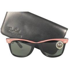 New Ray Ban The Wayfarer Rose / Black B&L G15 Grey Lenses USA 80's Sunglasses