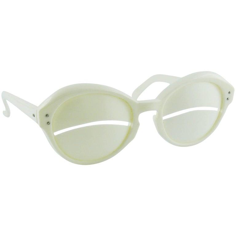 """COURREGES Vintage 1965 Iconic """"Eskimo Eclipse"""" Sunglasses"""