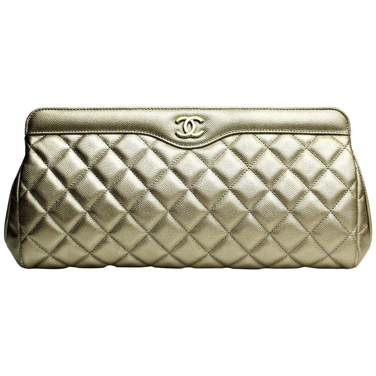 Chanel Clutch Gold Grained Leather  collection 2016/2017