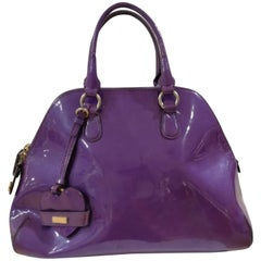 Moschino purple patent leather Bag