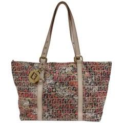 Fendi FF logo Multicolour Flower Shoulder Bag