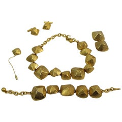 Hermes Vintage Gold-Plated Jewelry Set