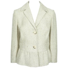 Valentino Gold Metallic Wool Blend Jacket - 10