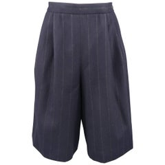 RALPH LAUREN Size 8 Navy Wool Dress Short Pants