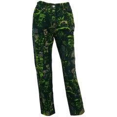 """Jean Paul Gaultier Vintage """"Foule"""" Print Pants Trousers USA Size 32"""