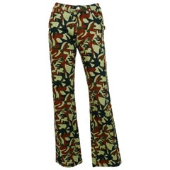 Jean Paul Gaultier Vintage Camouflage Faces Pants Trousers