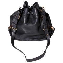 Ferragamo Drawstring Bucket Shoulder Bag with Gold Hardware / Crossbody