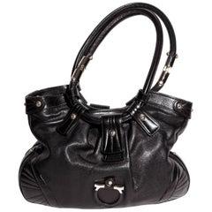 Ferragamo Black Leather Shoulder Bag