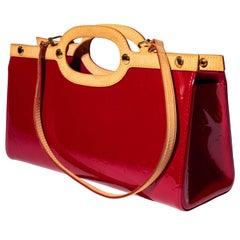 Louis Vuitton Red Patent Empreinte Tote with Detachable Shoulder Strap
