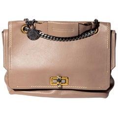 Lanvin Double Flap Shoulder Bag with Chain Strap