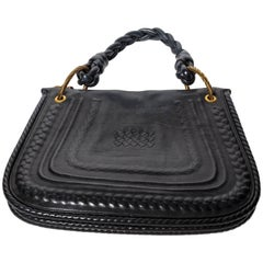 Bottega Veneta Leather Shoulder Bag with Braided Handle
