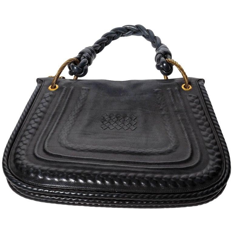 Bottega Veneta Leather Shoulder Bag with Braided Handle