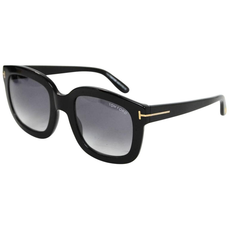 Tom Ford Black Christophe Sunglasses with Case