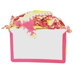 Christian Louboutin Artemis Papillote Hot Pink & Yellow Top Strap w/ Bows Bag