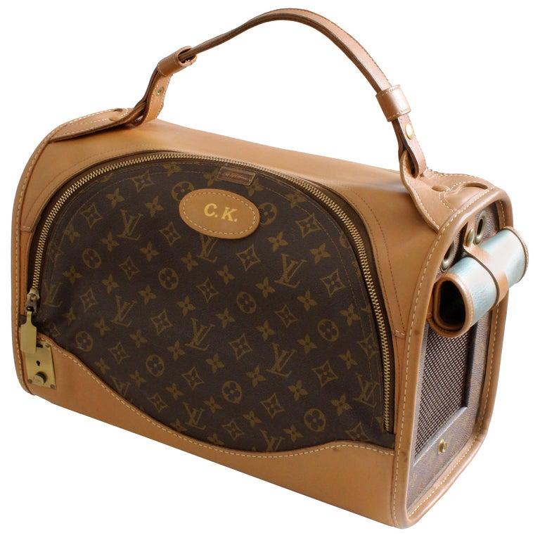 Louis Vuitton French Company Sac Chien Monogram Dog Carrier Travel Bag 40cm 70s