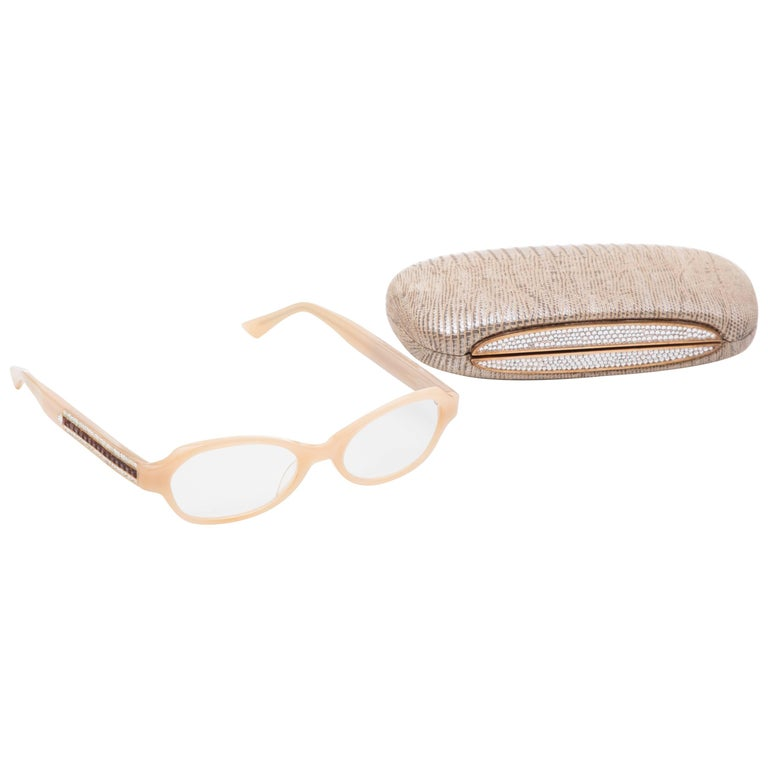 Judith Leiber Readers Reading Glasses With Crystal Case For Sale