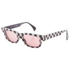 Alain Mikli Paris Checkerboard Sunglasses, Circa 1980s