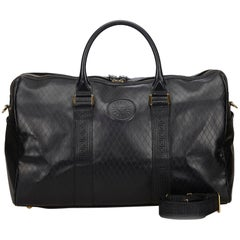 Versace Black Leather 2 Way Boston Bag