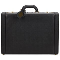 Ferragamo Black Leather Briefcase