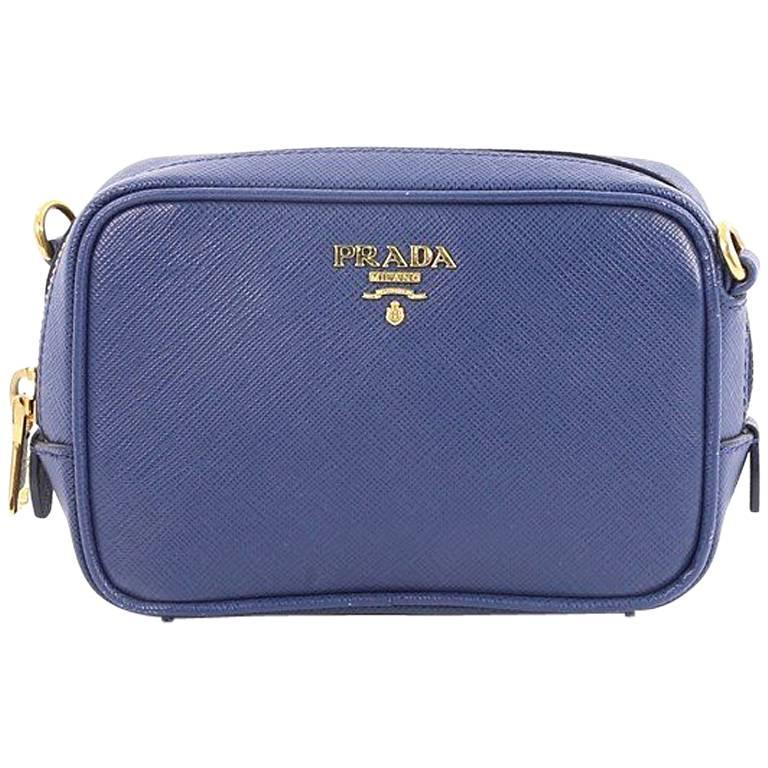 efbe9d58e2d7 Prada Zip Crossbody Bag Saffiano Leather Mini at 1stdibs