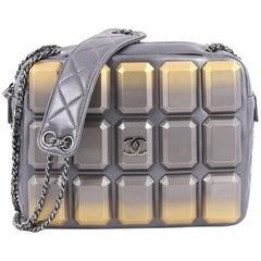 Chanel Evening Art Camera Bag Plexiglass Embellished Quilted Lambskin Small