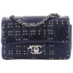 Chanel Airlines Grommet Studded Calfskin Mini Single Flap Bag
