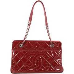 Chanel Timeless CC Shopping Tote Quilted Patent Medium
