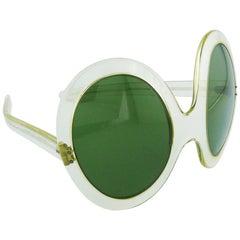 Pierre Cardin Vintage Lucite Oversized Avantgarde Sunglasses