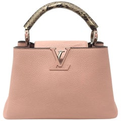 Louis Vuitton Capucine Pink Leather Tote Bag, 2015