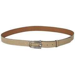 Tan Vintage Hermes Leather Belt