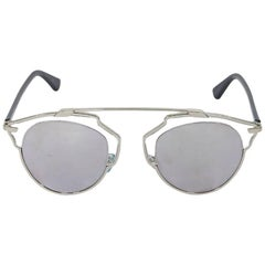 Silver Christian Dior Mirrored So Real Sunglasses