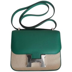 Hermes Vert Vertigo Constance Bag Mini Evercolor Palladium Hardware