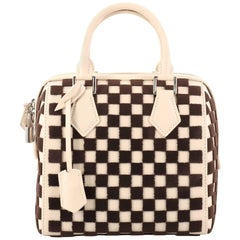 Louis Vuitton Speedy Cube Bag Damier Cubic Leather and Velvet PM