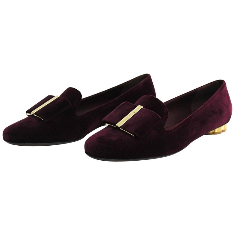 Salvatore Ferragamo Shoes Purple Velvet