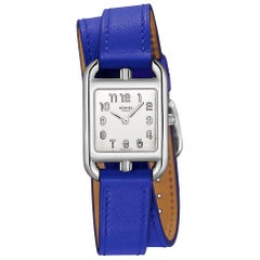 Hermes Watch Cape Cod Blue Electric Double Strap